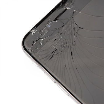 Смартфон с битым дисплеем