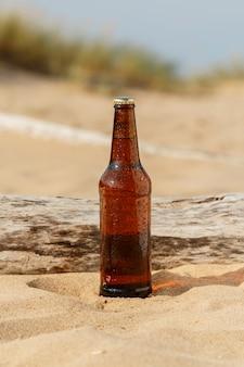 ビーチでビール