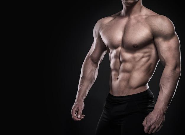 筋肉の男性の胴体