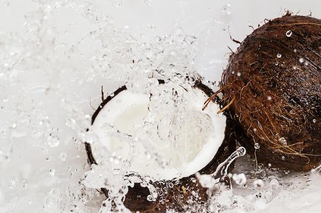 ココナッツと水のしぶき