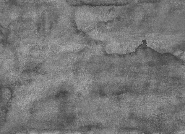 水彩の古い灰色のテクスチャ背景の絵。モノクロの穏やかなグランジオーバーレイ。紙に灰色の汚れ。