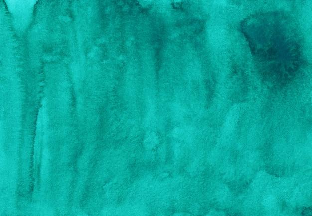 水彩のターコイズブルーの背景の絵。アクワレル抽象的な海の青い背景、テクスチャ。