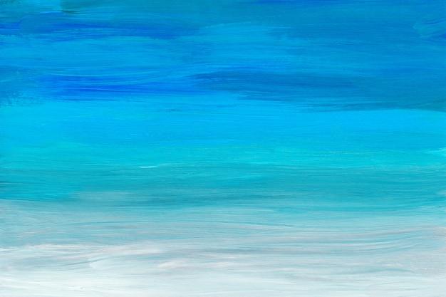 色とりどりのアート絵画の背景テクスチャを抽象化します。青、ターコイズ、グレーと白の抽象化。