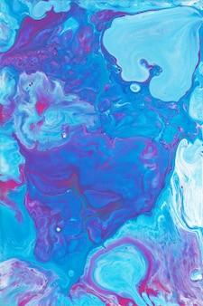 Жидкость искусства синий и фиолетовый фоновой текстуры. мраморный фон.