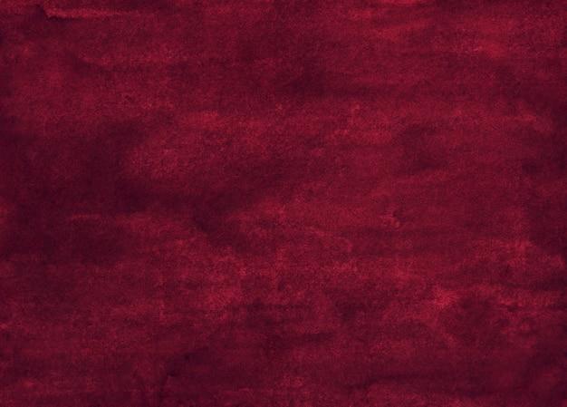 Акварель темный бордовый фон живописи текстуры. акварель глубокого красно-розового цвета. старый овелай.