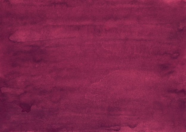 水彩の古い深紅色の背景の絵。アクアレルディープピンク。ヴィンテージ手描きのテクスチャ。