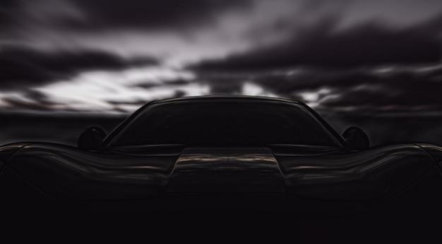 Вид спереди на спортивный автомобиль