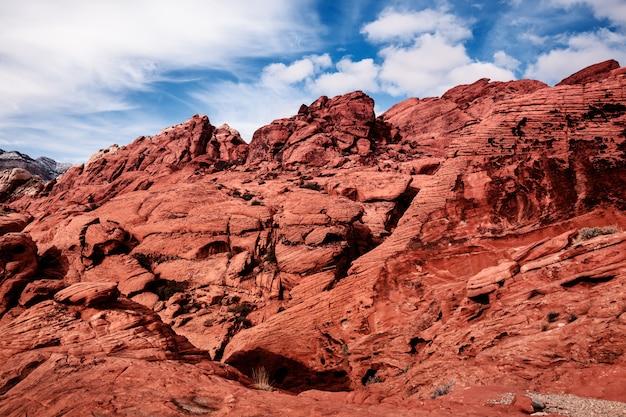 アメリカ、砂漠のレッドロックスの風光明媚な風景