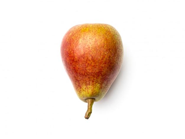 梨は、白い背景で隔離。上面図