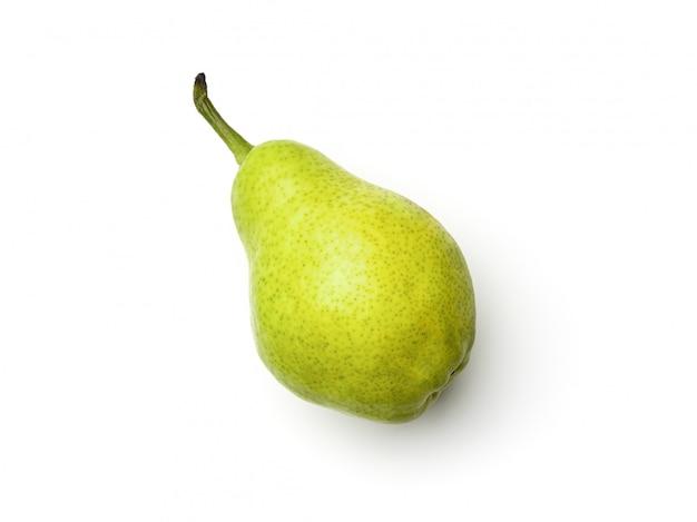梨は、白い背景で隔離。真上