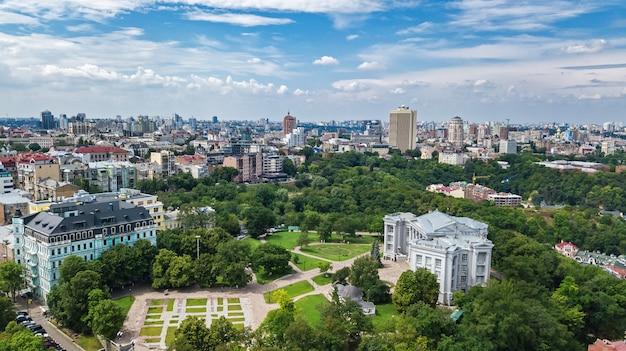キエフの街並みの空撮
