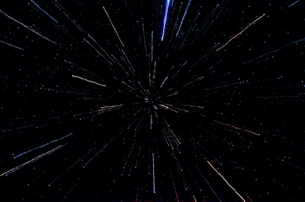 星と銀河の宇宙空の夜の宇宙黒星