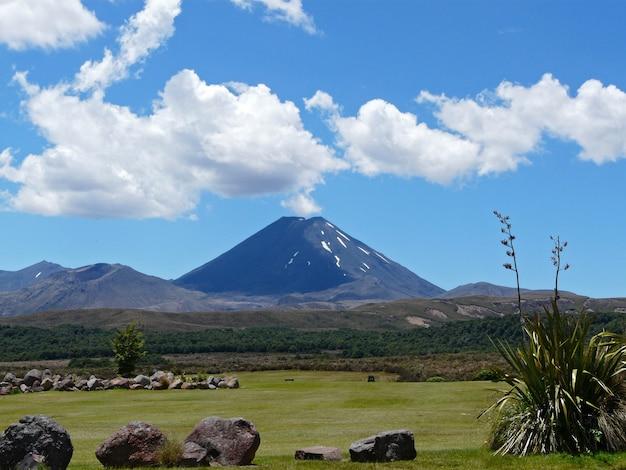 美しいアンデス山脈の風景、アラウカニア地区、ロンキメイ火山、カラキ、チリ、南アメリカ