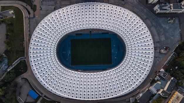 キエフのスタジアムの空撮