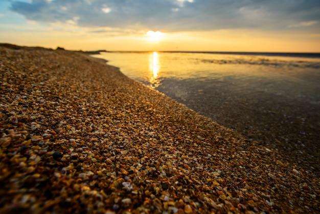 Оранжевый мистик рассвет моря