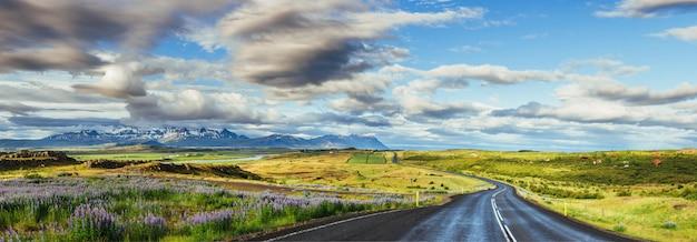 アイスランド南部の手配ラグーンと大西洋を結ぶ水路に架かる橋。
