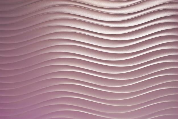 壁に抽象的な波曲線パターン
