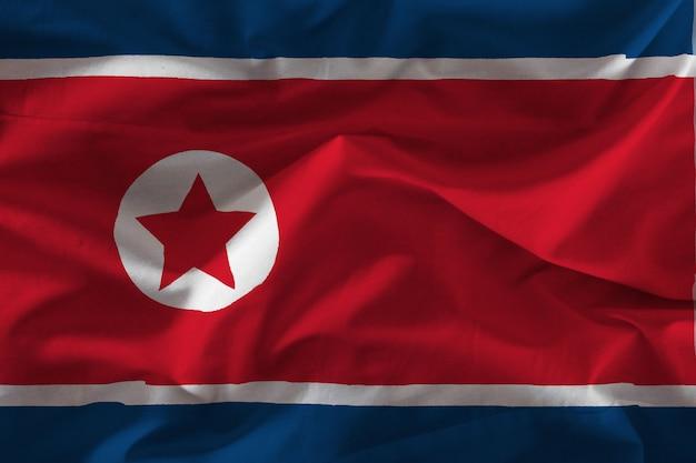 ファブリック北朝鮮旗