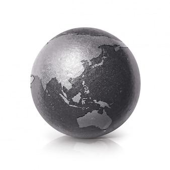 Черный железный земной шар