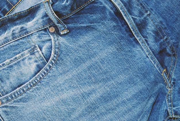 男のジーンズのクローズアップ