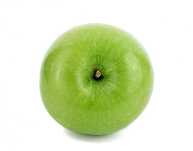 分離された青リンゴ