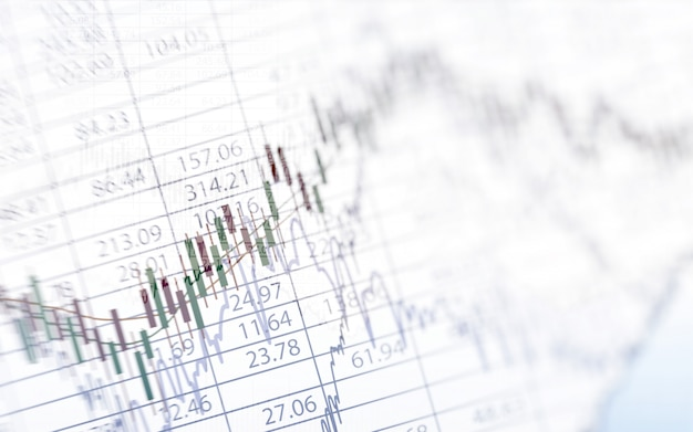 Абстрактный финансовый график с графиком