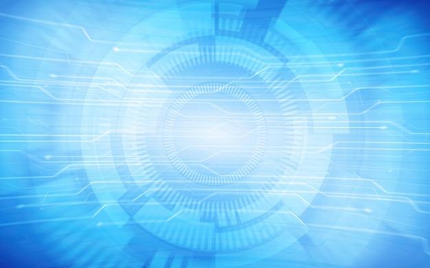 抽象的なブルーの技術の背景