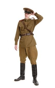 第二次世界大戦の軍服を着た俳優