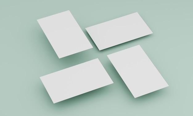 Четыре визитки сверху