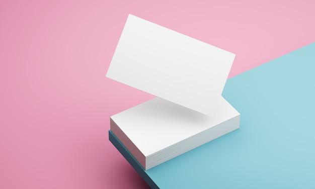 Синие и розовые настенные визитки