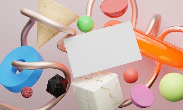 Геометрические фигуры и визитка