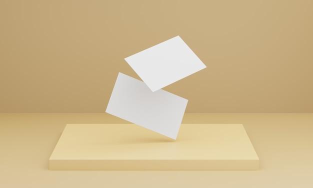 Мягкая желтая визитка