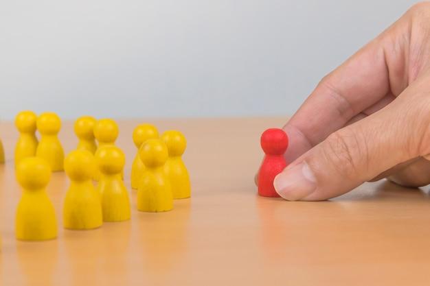 人材、人材管理、採用担当者、成功するビジネスチームリーダーのコンセプト。