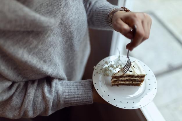 ケーキのクローズアップ