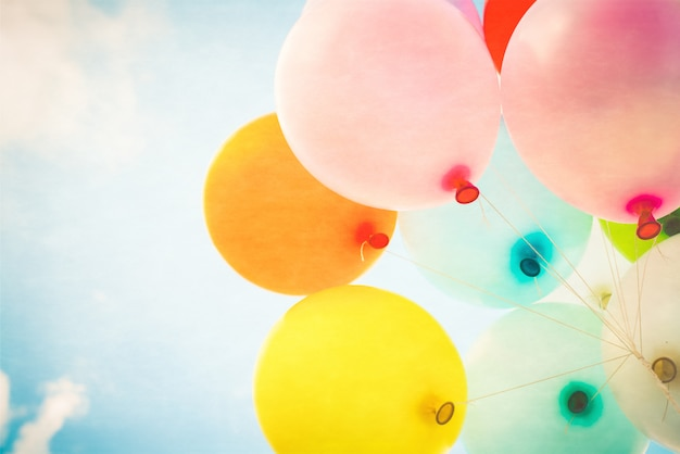 Старинные разноцветные воздушные шары