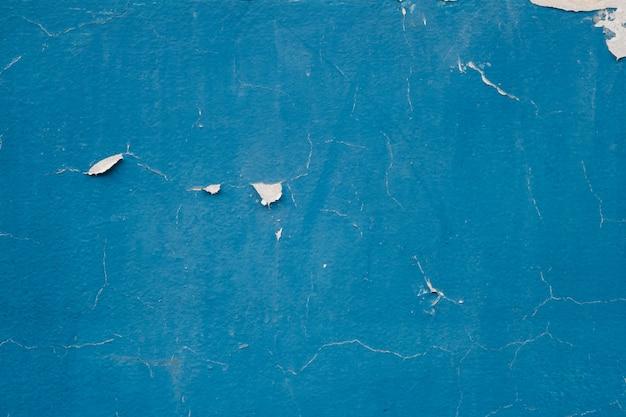 テクスチャ背景の空白グランジコンクリート壁の青い色