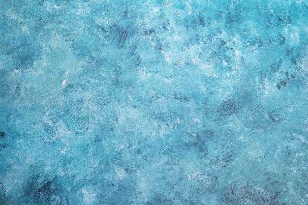 テクスチャの空白グランジコンクリート壁青い海の色塗料。ビンテージ背景