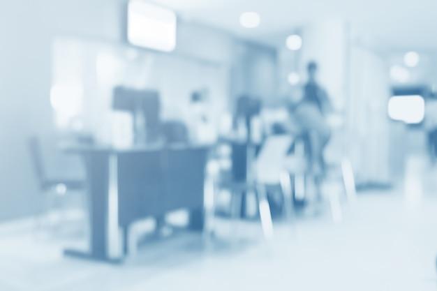 病院 - 抽象的な医学的背景のぼやけたインテリア。