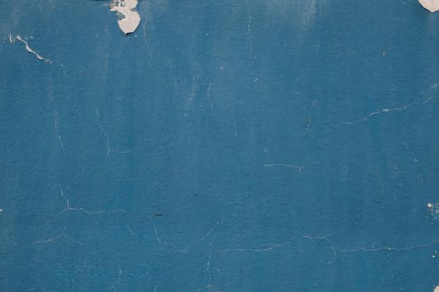 空白のグランジコンクリート壁の青い色