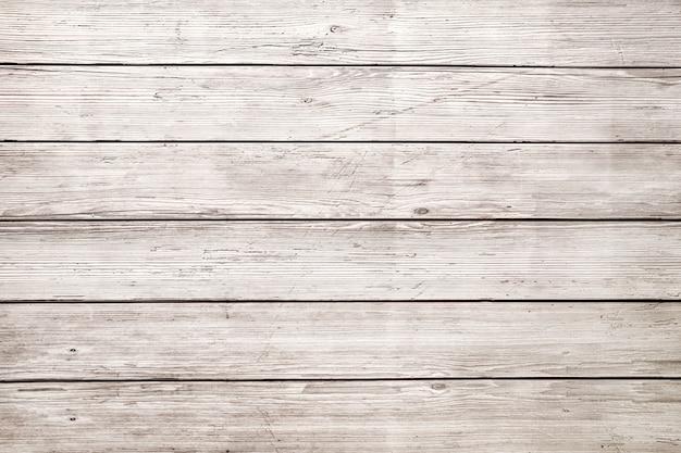 古い白い木の板のテクスチャ背景。