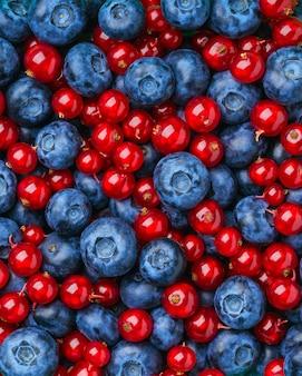 さまざまな果実や果物の背景。
