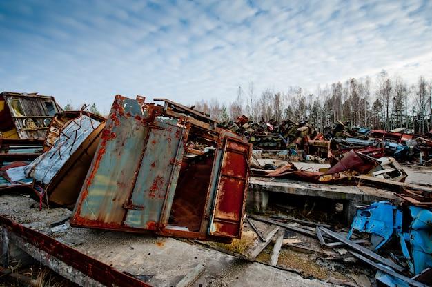 Чернобыльская свалка в припяти