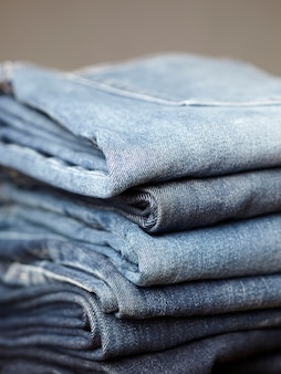 Синие джинсовые детали ткани
