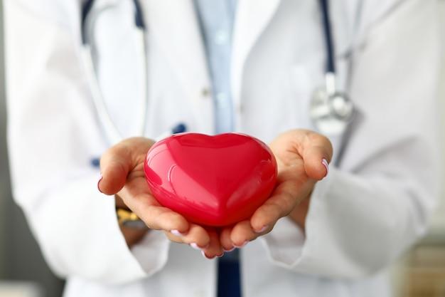 女性の心肺機能を持つ赤いおもちゃの心