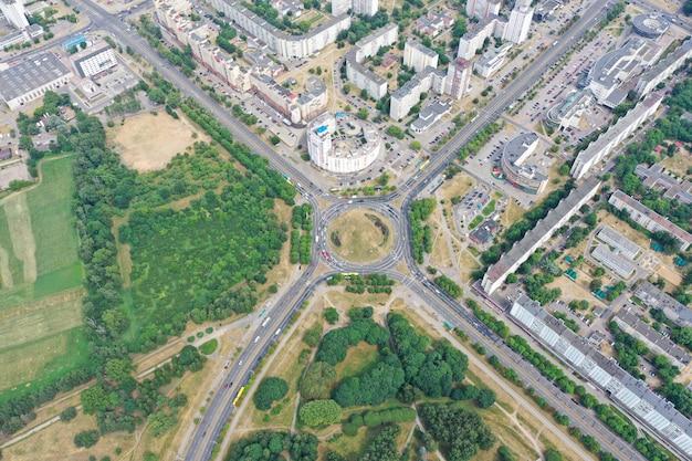 Фото с квадрокоптера беспилотный воздушный городской