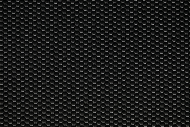 ブラックの人工テクスチャードレザー素材