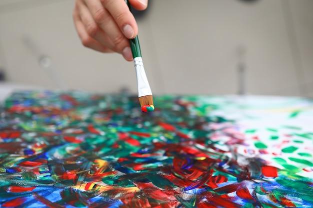Смешанные цвета на палитре