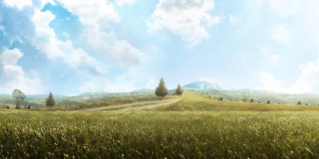 バックグラウンド。美しい山の風景。