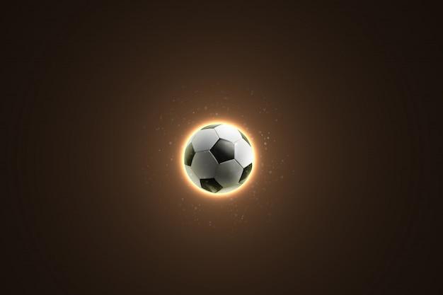 Футбольный мяч на абстрактный фон
