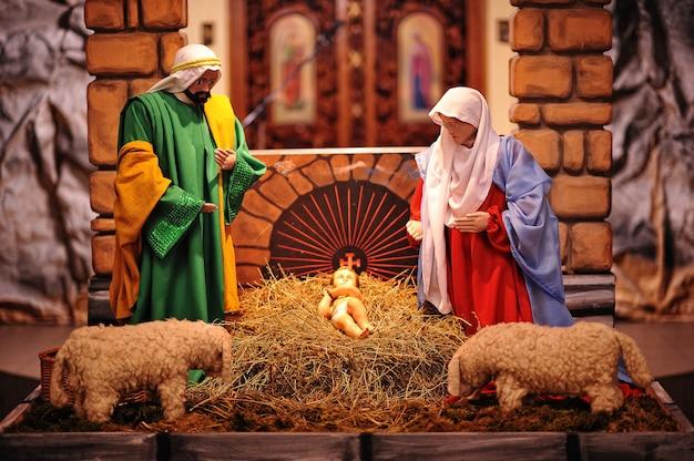 クリスマス降誕ベビーベッドセット